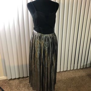 NWT free people black and silver gown